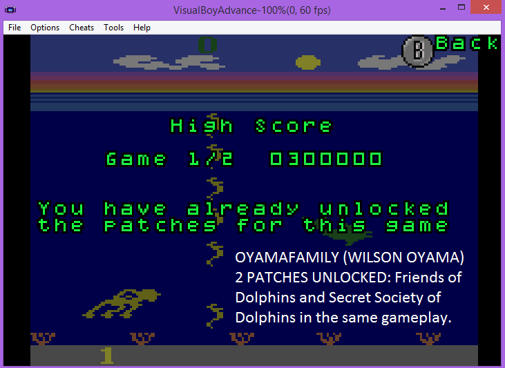 oyamafamily: Activision Anthology: Dolphin [Game 1B] (GBA Emulated) 300,000 points on 2016-07-01 19:29:31