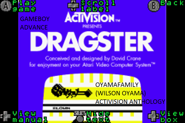 oyamafamily: Activision Anthology: Dragster [Game 1B] (GBA Emulated) 0:00:05.94 points on 2016-07-21 11:18:26