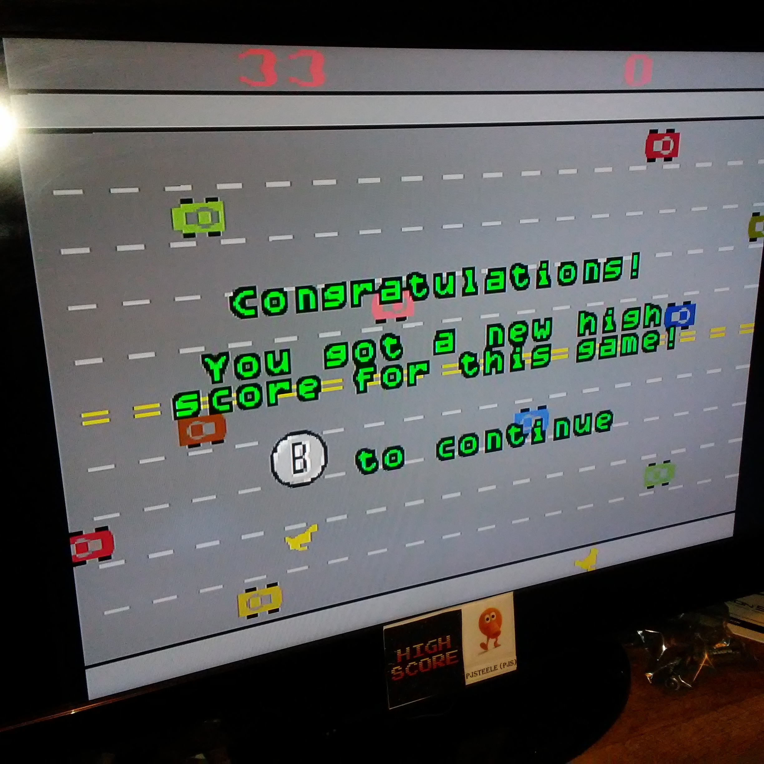 Pjsteele: Activision Anthology: Freeway [Game 1B] (GBA Emulated) 33 points on 2017-04-08 10:01:07