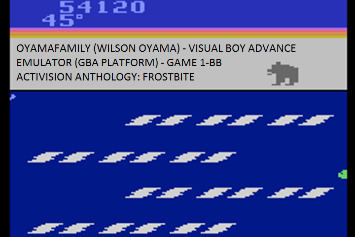 oyamafamily: Activision Anthology: Frostbite [Game 1] (GBA Emulated) 54,120 points on 2017-01-31 18:41:13