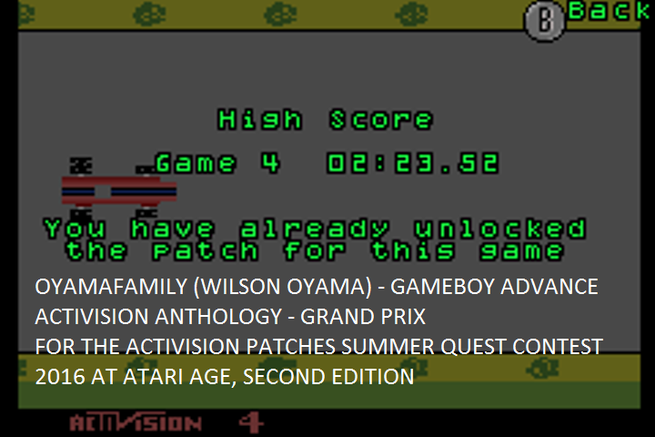 oyamafamily: Activision Anthology: Grand Prix [Game 4B] (GBA Emulated) 0:02:23.52 points on 2016-07-21 11:20:20