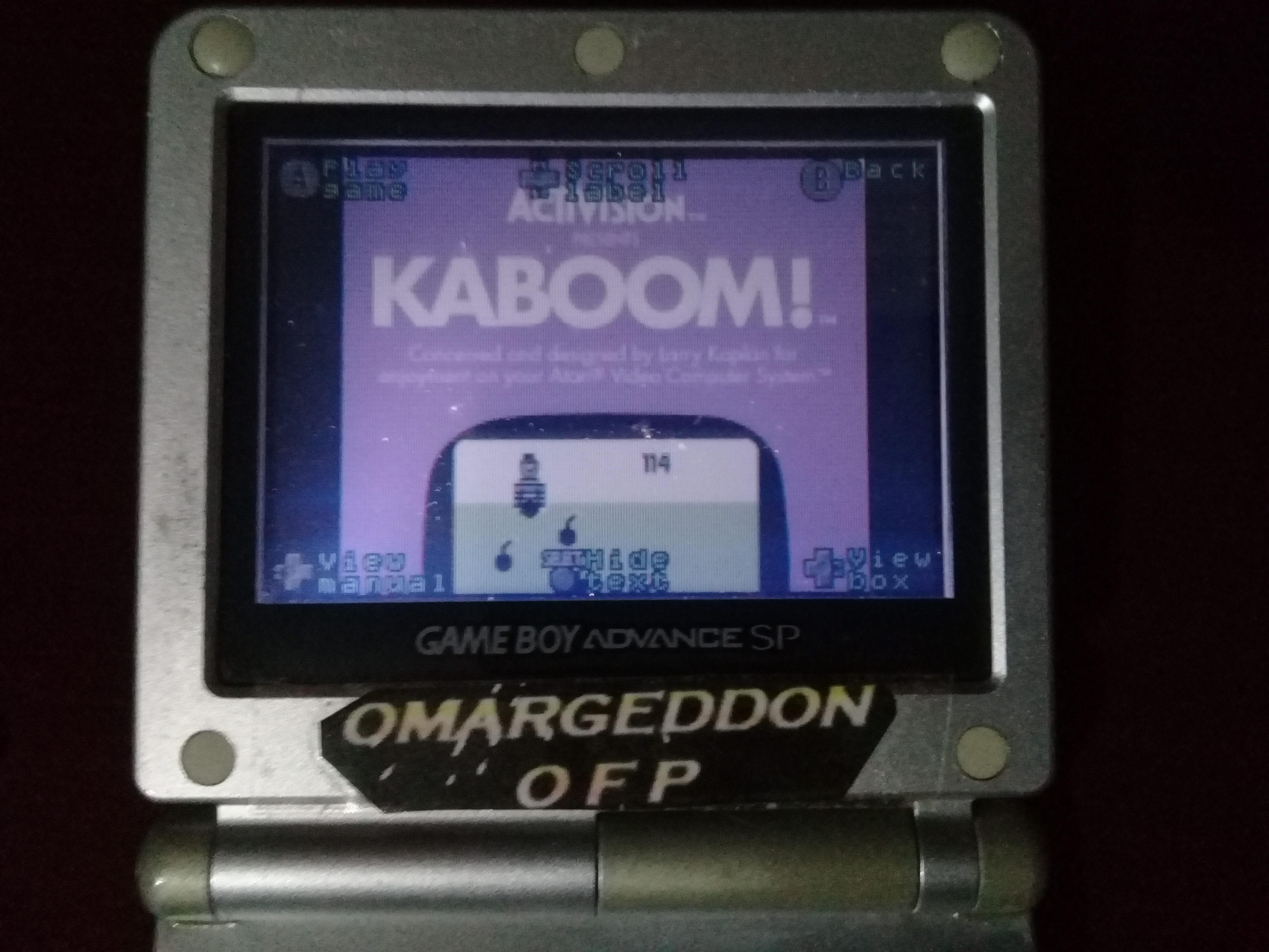 omargeddon: Activision Anthology: Kaboom! [Game 1B] (GBA) 457 points on 2020-05-17 21:20:51