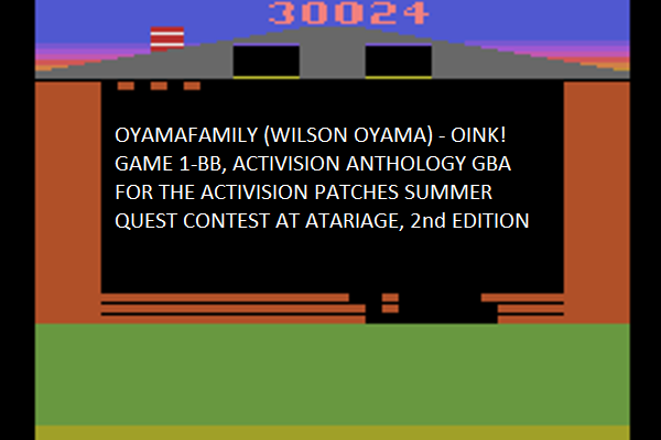 oyamafamily: Activision Anthology: Oink! [Game 1B] (GBA Emulated) 30,024 points on 2016-07-07 18:43:15
