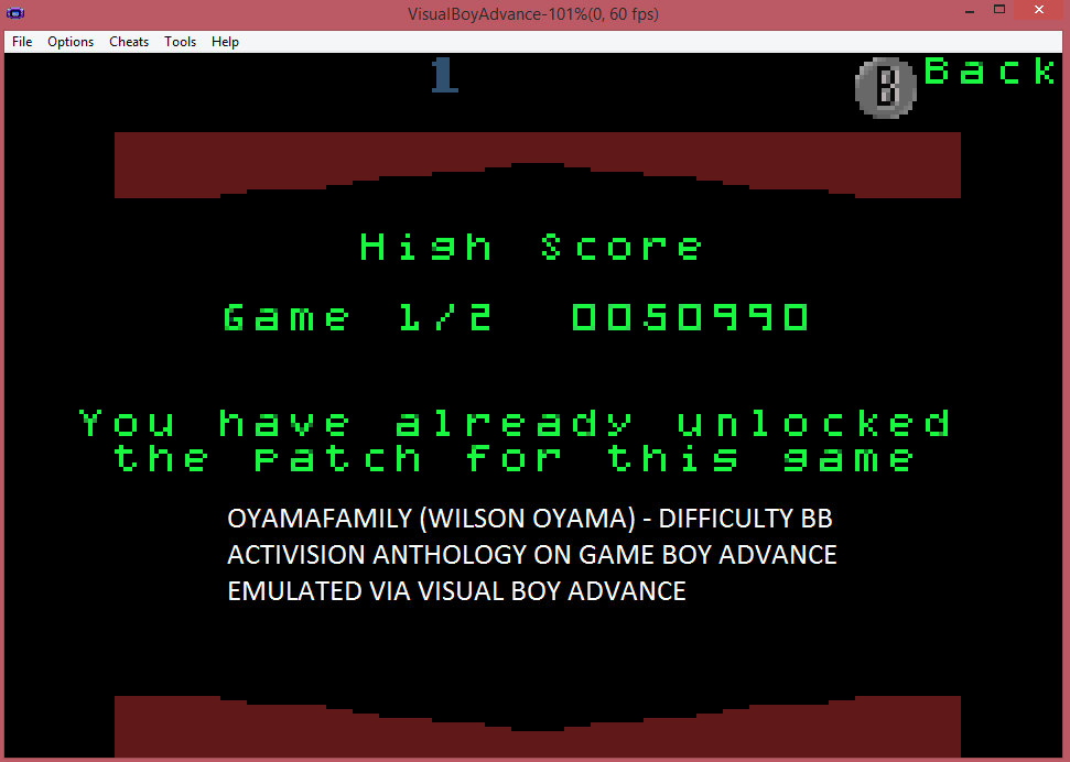oyamafamily: Activision Anthology: Plaque Attack [Game 1B] (GBA Emulated) 50,990 points on 2015-07-11 21:13:36