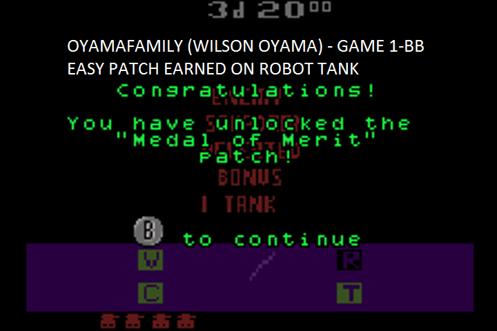 oyamafamily: Activision Anthology: Robot Tank [Game 1B] (GBA Emulated) 49 points on 2016-07-08 21:16:09