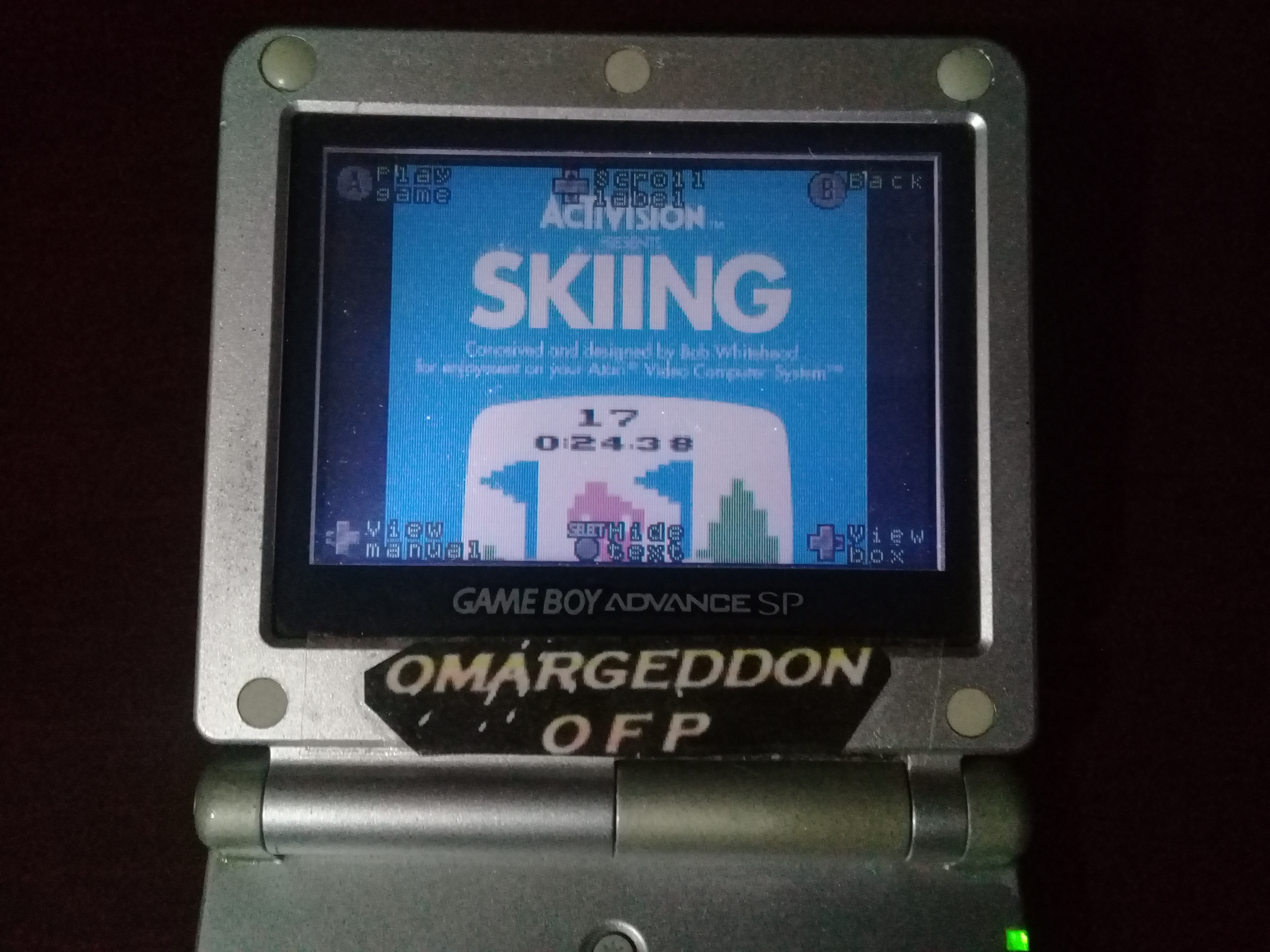 omargeddon: Activision Anthology: Skiing [Game 1B] (GBA) 0:00:32.88 points on 2019-09-19 00:52:38