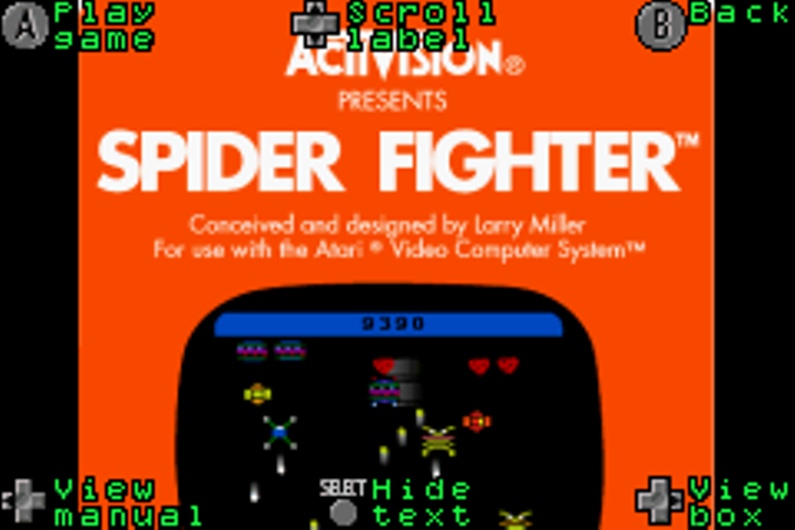oyamafamily: Activision Anthology: Spider Fighter [Game 1B] (GBA Emulated) 24,990 points on 2017-01-24 18:27:53