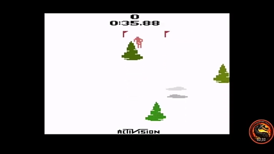 Activision Classics: Skiing [Game 1] time of 0:00:35.88