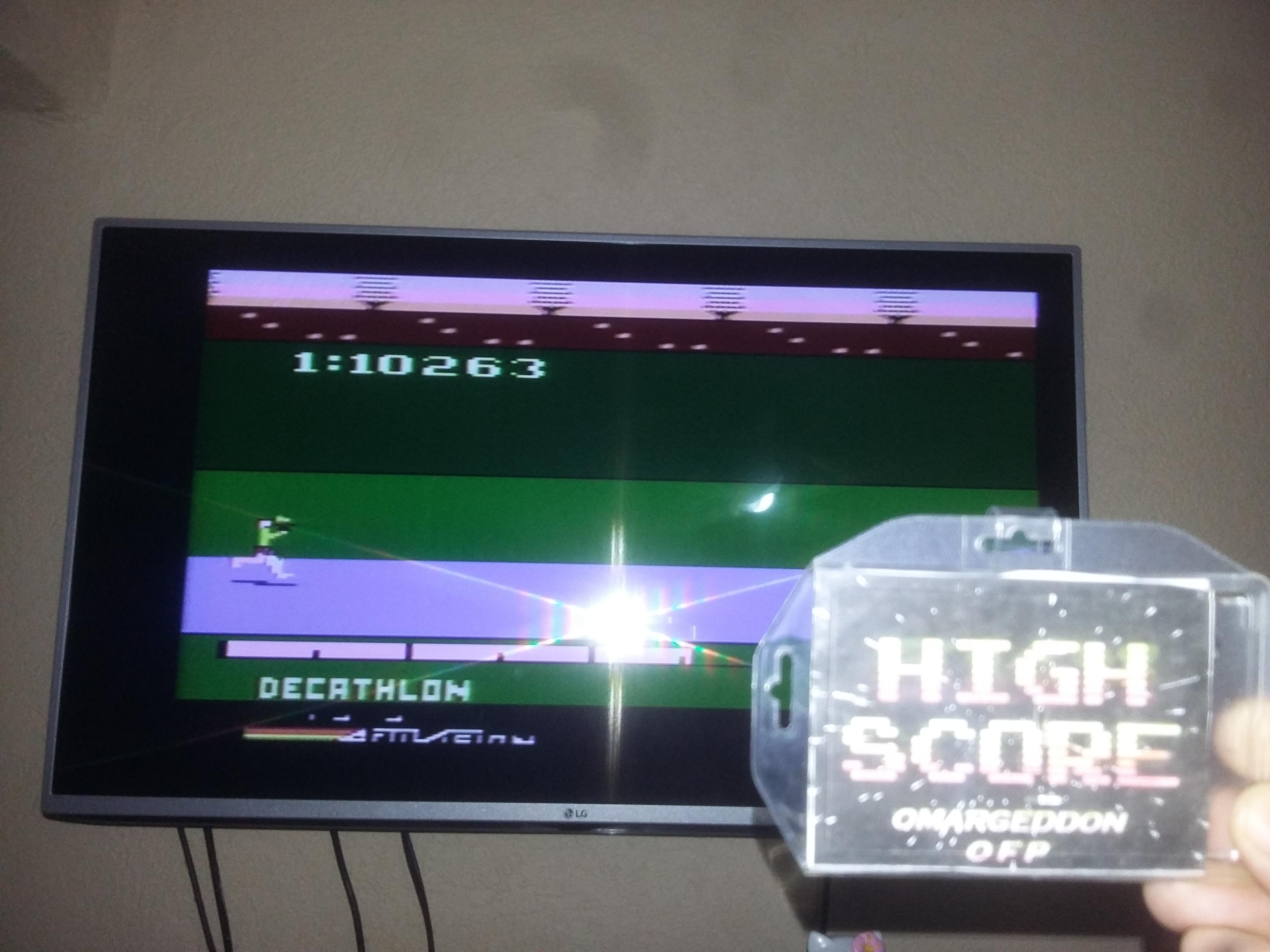 omargeddon: Activision Decathlon (Atari 2600) 10,263 points on 2017-07-26 00:07:28