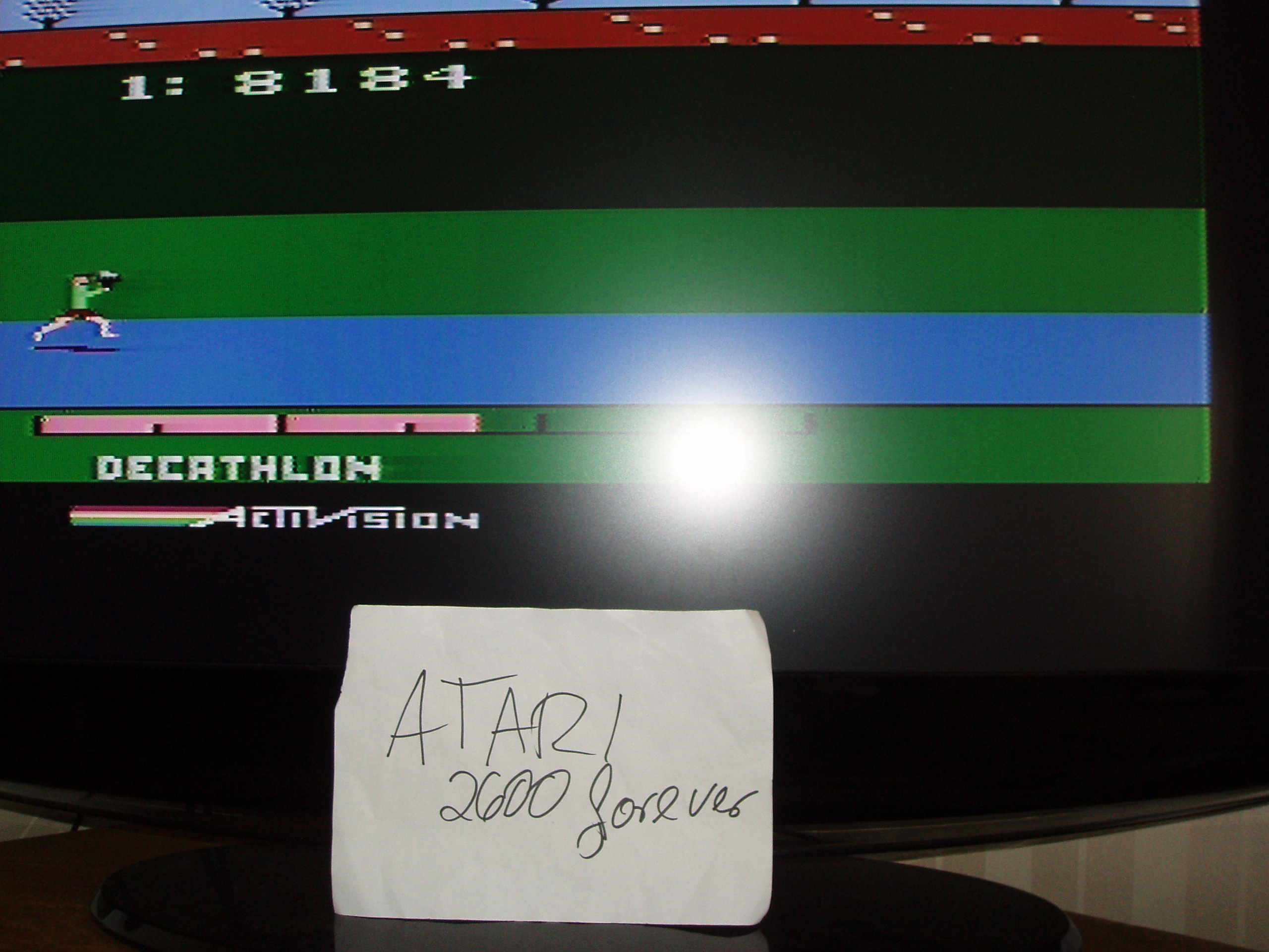 atari2600forever: Activision Decathlon (Atari 2600) 8,184 points on 2018-07-03 04:01:31