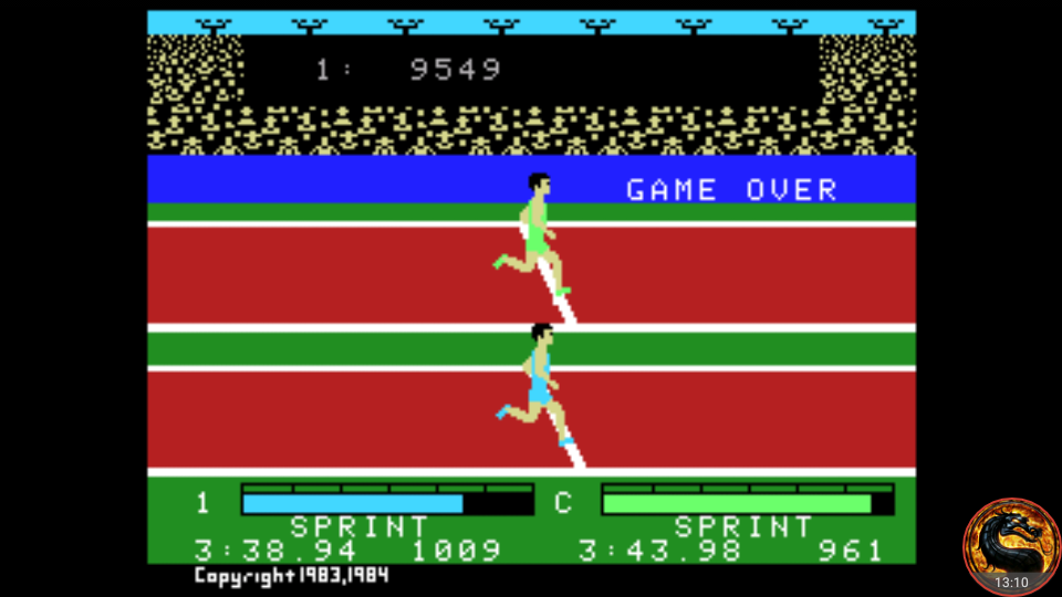 omargeddon: Activision Decathlon (Colecovision Emulated) 9,549 points on 2018-08-31 23:04:52
