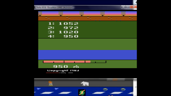 S.BAZ: Activision Decathlon [Discus: Total Of All 4 Attempts] (Atari 2600 Emulated) 3,994 points on 2018-08-25 17:21:16