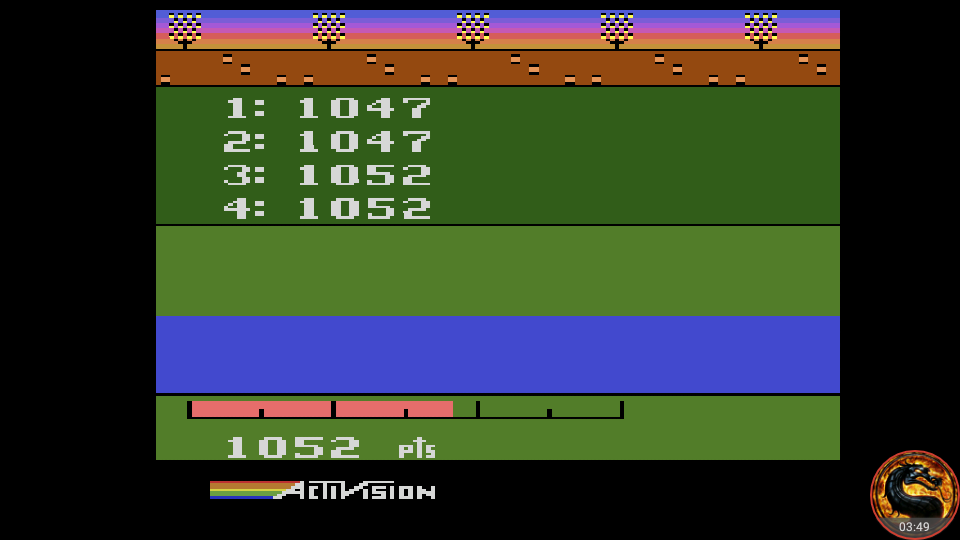 omargeddon: Activision Decathlon [Discus: Total Of All 4 Attempts] (Atari 2600 Emulated) 4,198 points on 2018-08-25 18:07:33