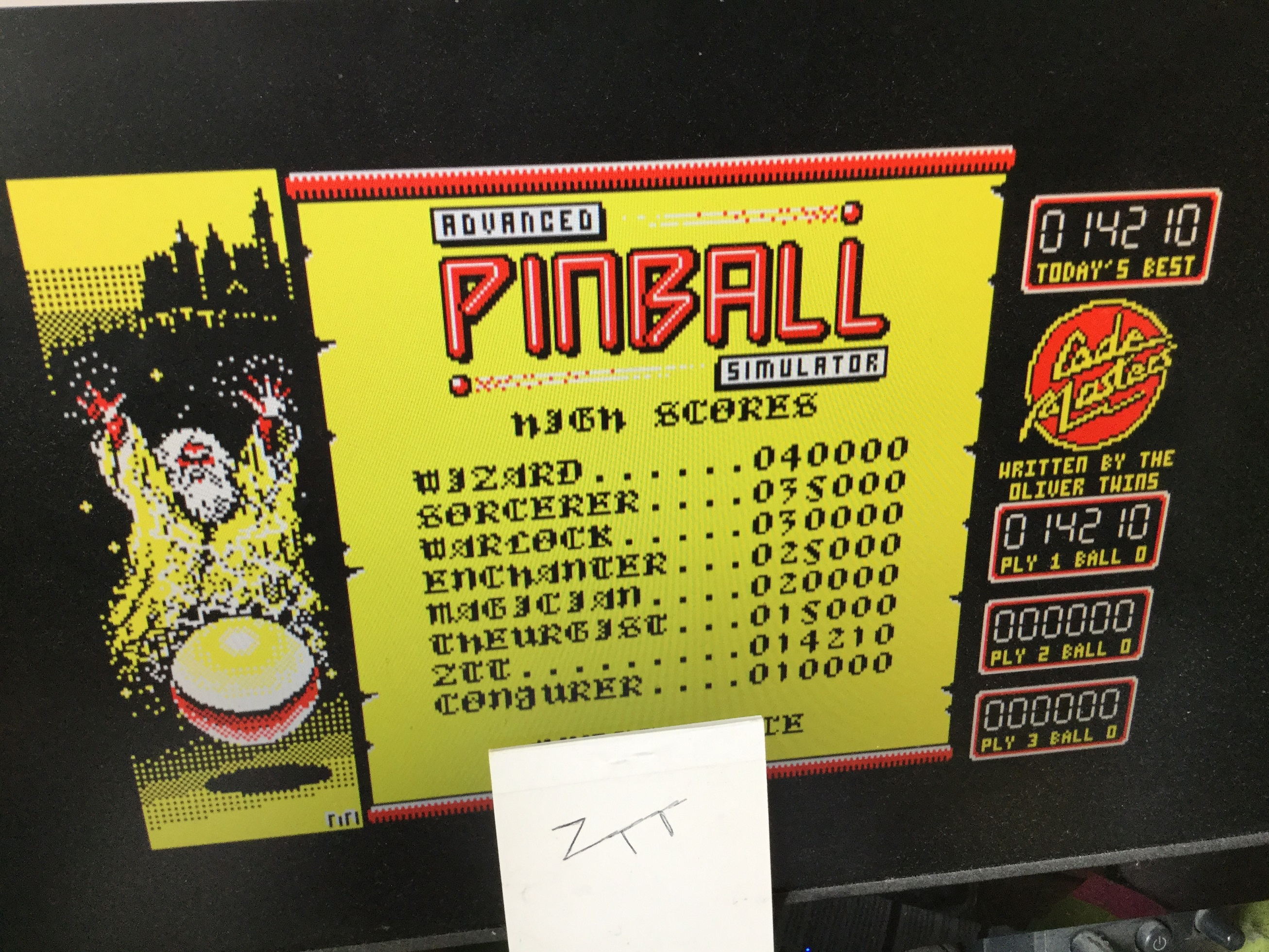Frankie: Advanced Pinball Simulator (Amstrad CPC Emulated) 14,210 points on 2021-02-14 06:36:53