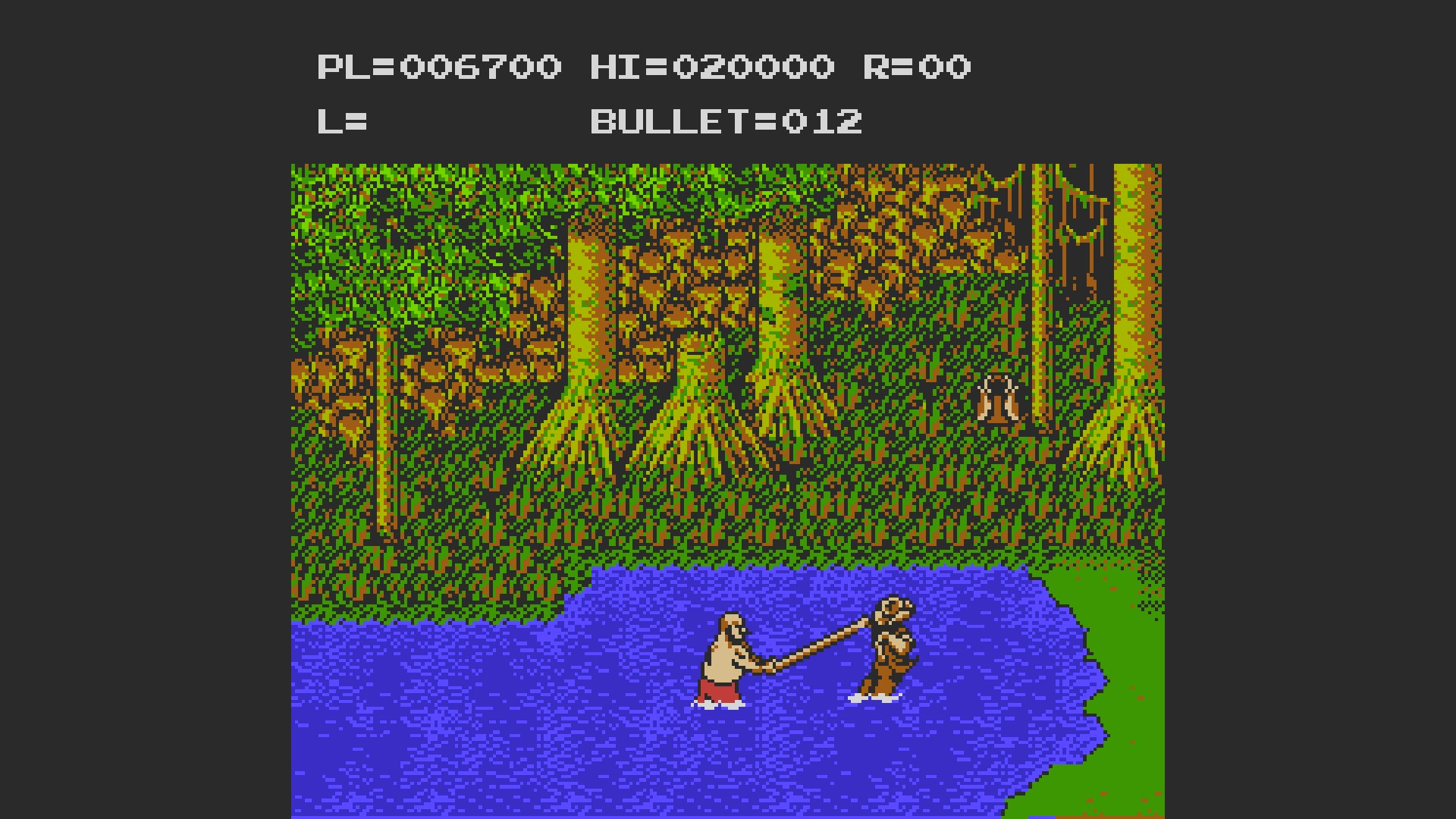 Adventures of Bayou Billy: Game A 6,700 points