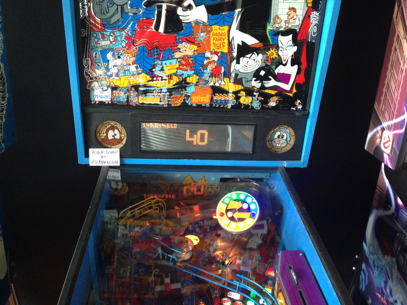 euphonium: Adventures of Rocky and Bullwinkle (Pinball: 3 Balls) 149,044,610 points on 2017-05-14 21:04:06