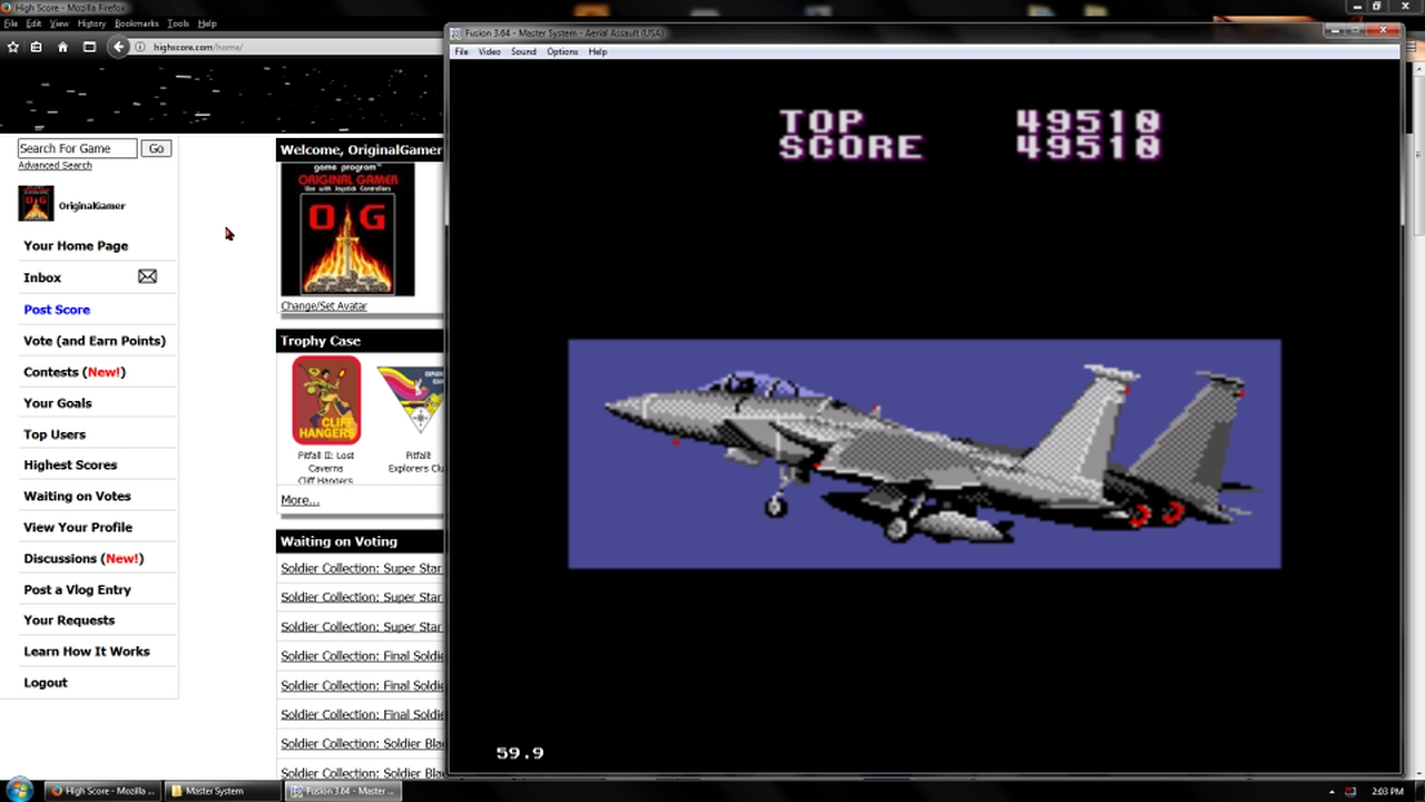 OriginalGamer: Aerial Assault [Easy] (Sega Master System Emulated) 49,510 points on 2018-02-19 18:01:17