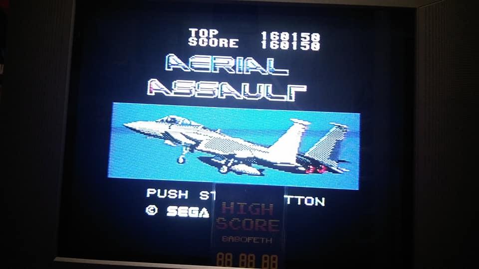 BabofetH: Aerial Assault [Hard] (Sega Master System) 160,150 points on 2020-07-26 18:38:14