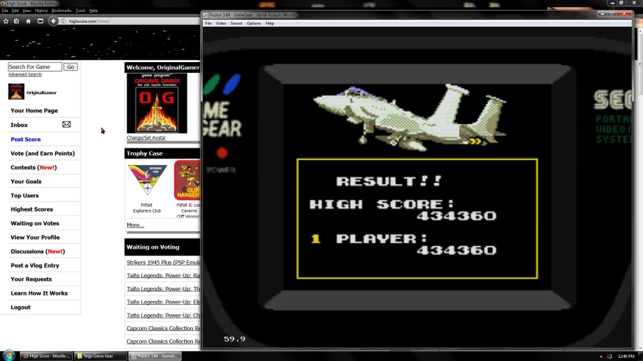 OriginalGamer: Aerial Assault (Sega Game Gear Emulated) 434,360 points on 2018-02-19 18:47:53