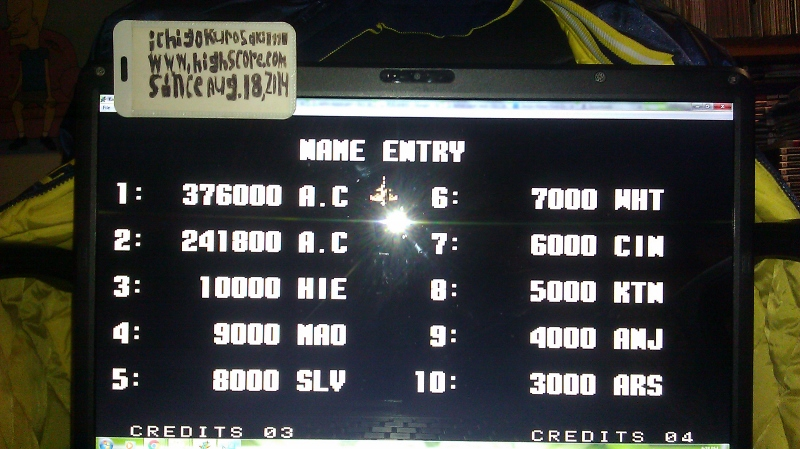 Aero Fighters 2 / Sonic Wings 2 376,000 points