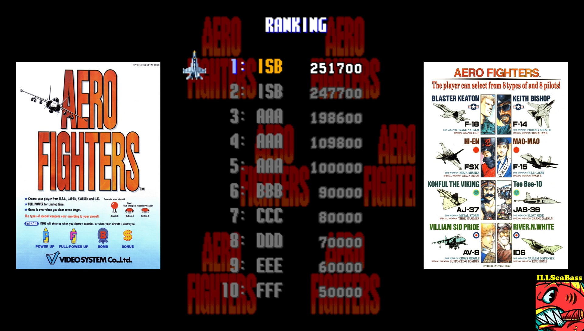 ILLSeaBass: Aero Fighters (Arcade Emulated / M.A.M.E.) 251,700 points on 2017-07-04 22:44:24