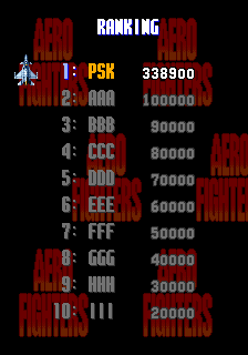 PiotrPolska: Aero Fighters (Arcade Emulated / M.A.M.E.) 338,900 points on 2018-09-02 07:28:50