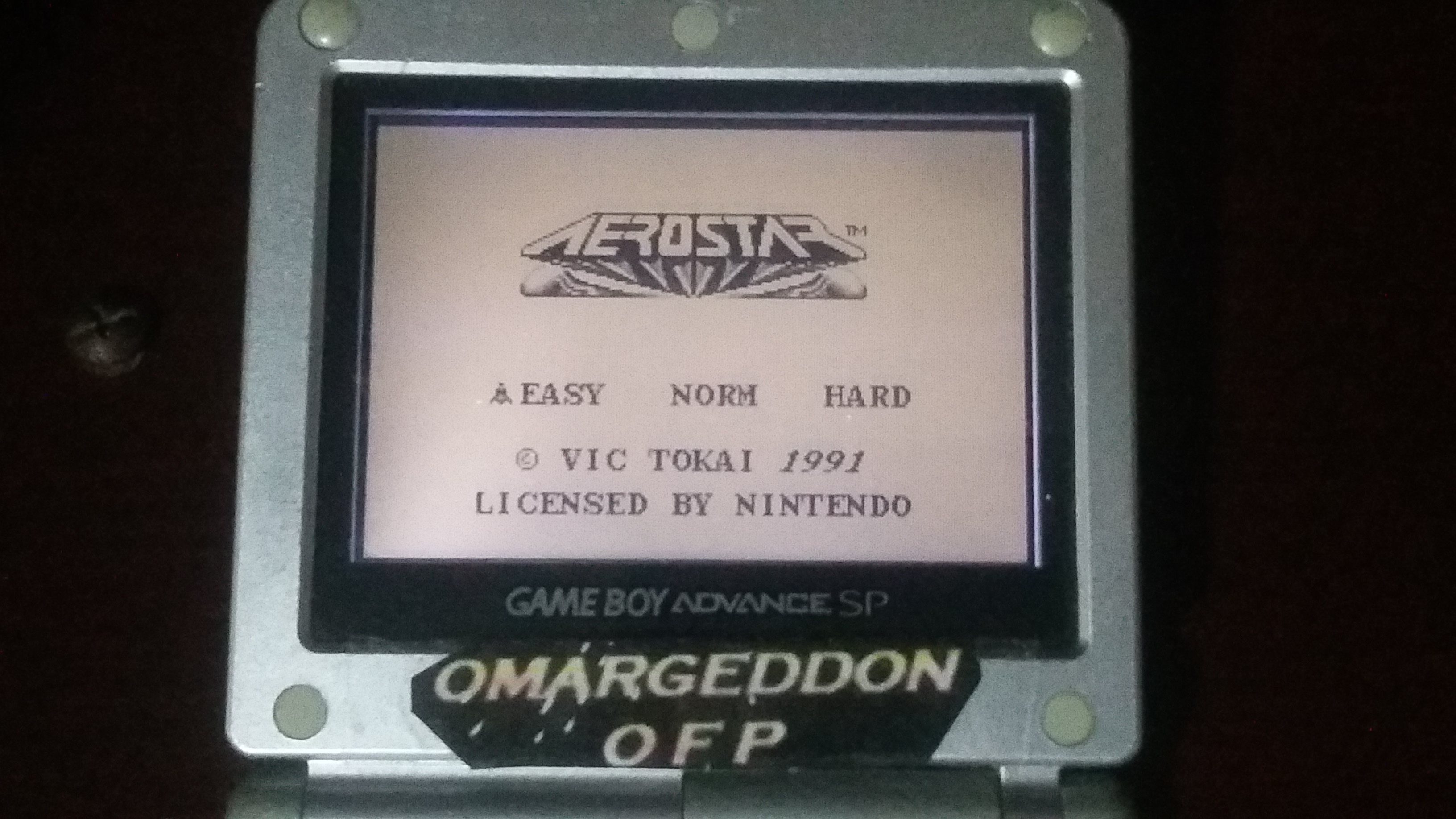 omargeddon: Aero Star [Easy] (Game Boy) 26,500 points on 2018-06-01 19:50:40