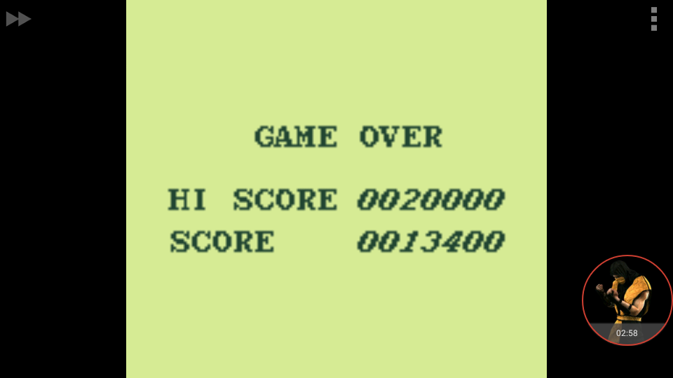 omargeddon: Aero Star [Hard] (Game Boy Emulated) 13,400 points on 2018-01-04 16:20:11