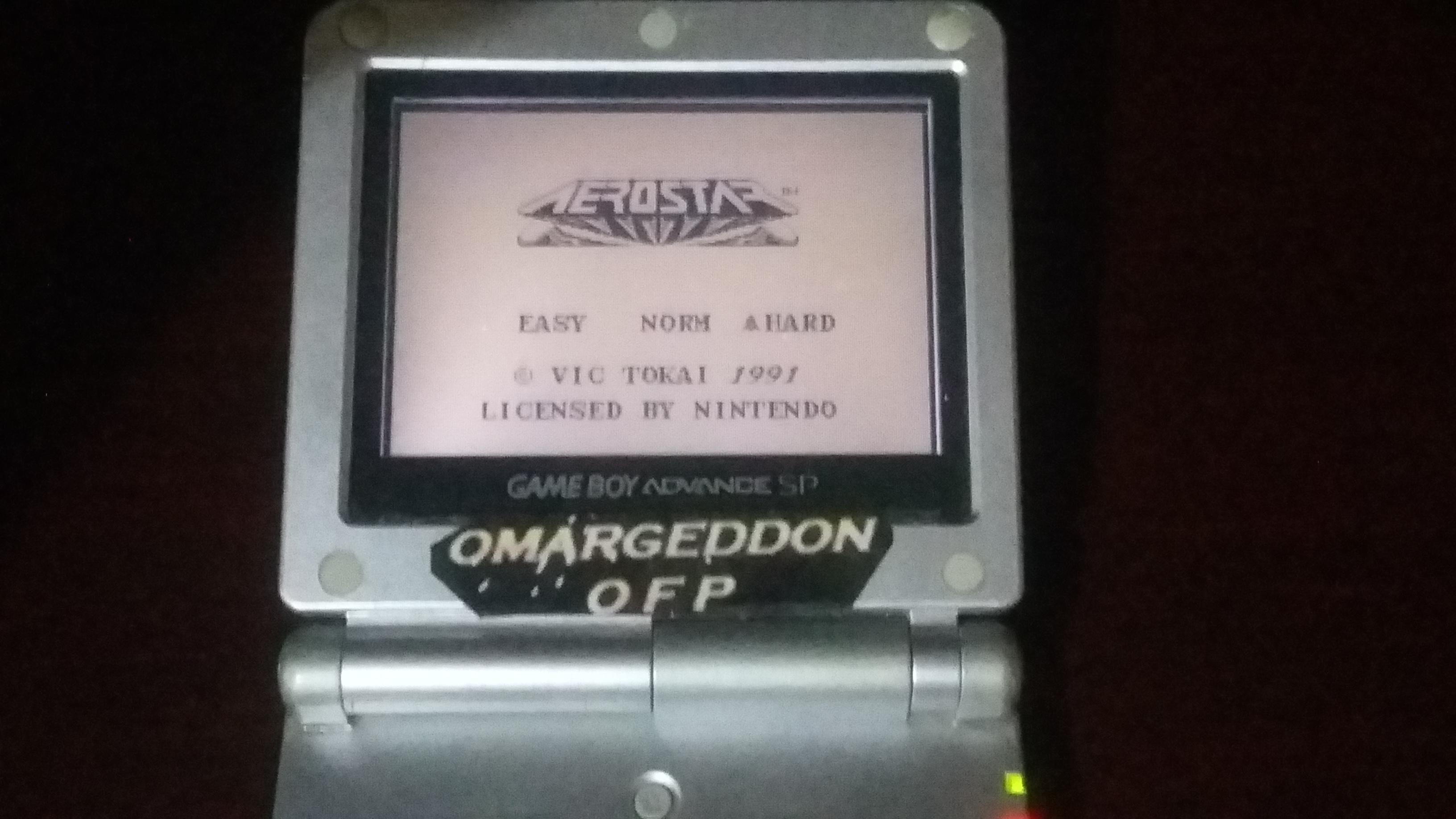 omargeddon: Aero Star [Hard] (Game Boy) 32,200 points on 2018-06-01 20:37:28