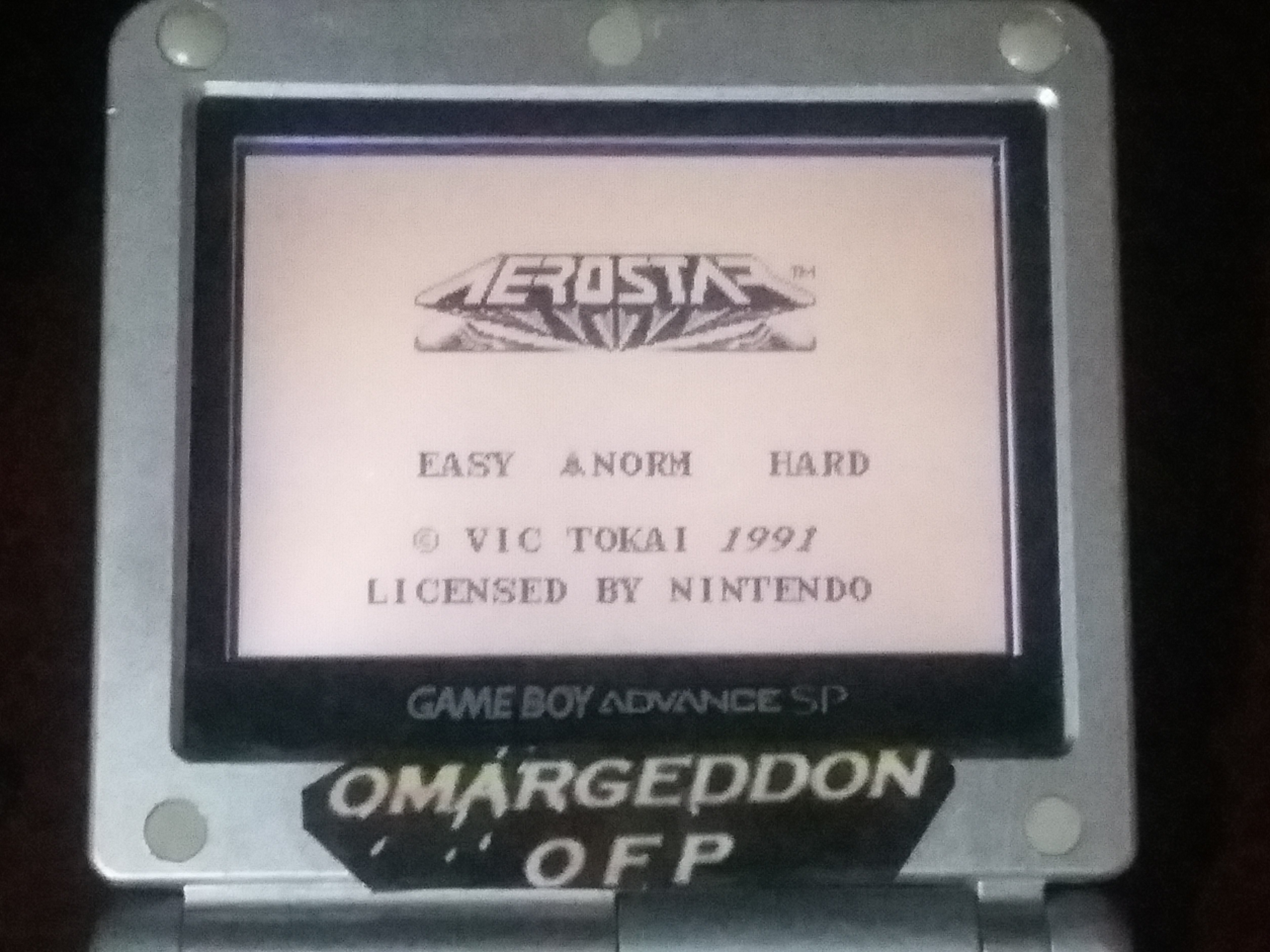 omargeddon: Aero Star [Normal] (Game Boy) 44,900 points on 2018-01-17 13:52:25