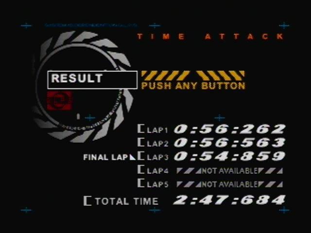 derek: AeroGauge: Time Attack [Canyon Rush / 3 laps] (N64) 0:02:47.684 points on 2016-04-18 22:30:15