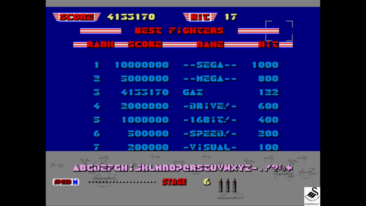 gazzhally: After Burner 2 [Easy] (Sega Genesis / MegaDrive Emulated) 4,133,170 points on 2017-07-03 05:47:21