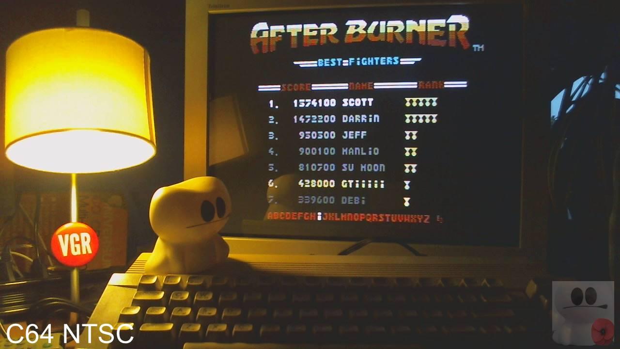 GTibel: After Burner [USA/Mindscape] (Commodore 64) 428,000 points on 2020-02-13 10:46:56