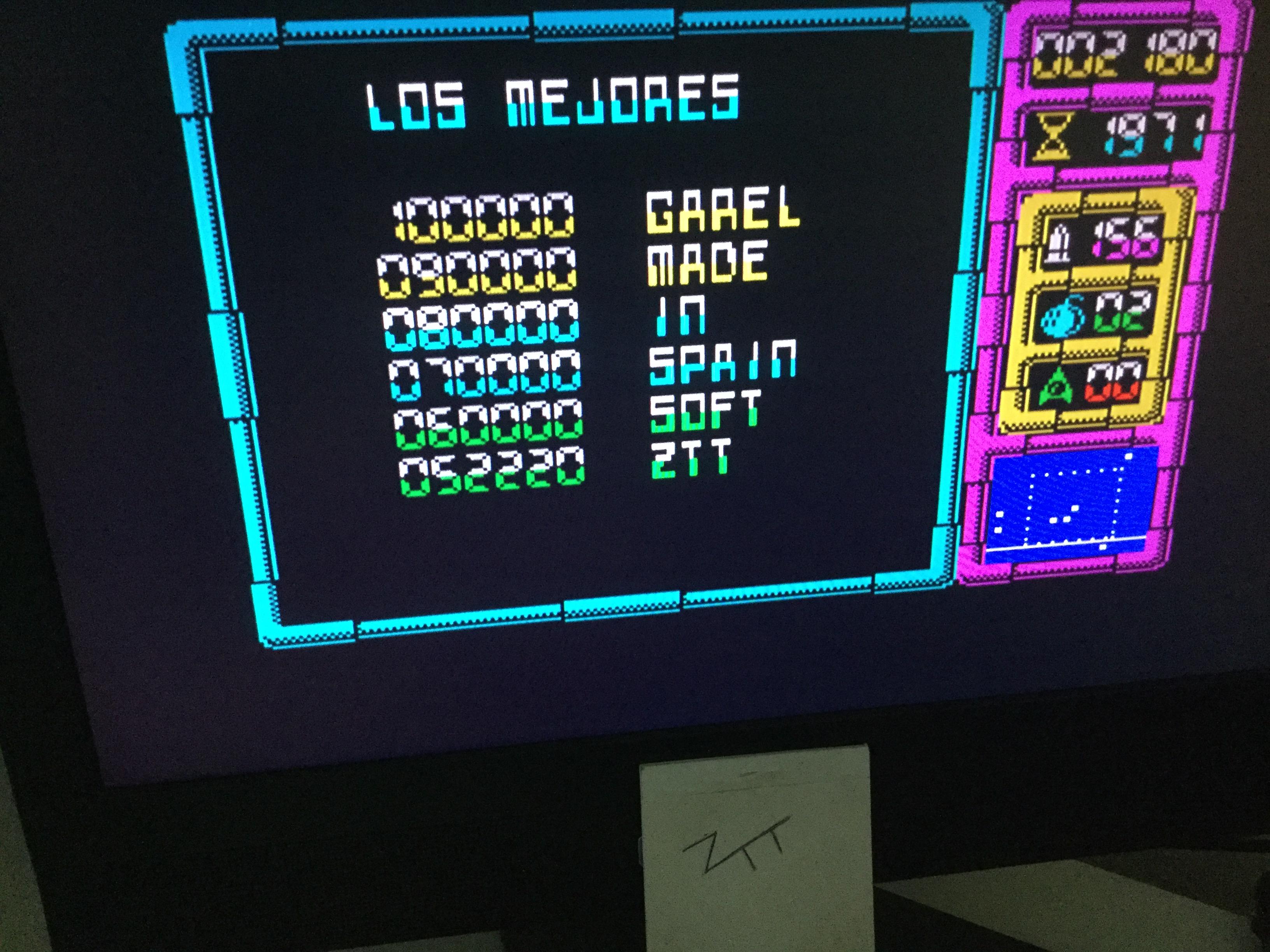 Frankie: Afteroids (ZX Spectrum) 52,220 points on 2020-08-28 02:54:24