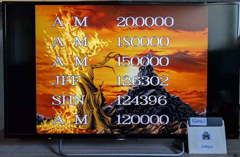 SHiNjide: Agony (Amiga Emulated) 124,396 points on 2017-01-27 03:14:49