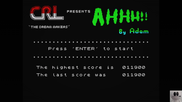 GTibel: Ahhh!! (ZX Spectrum Emulated) 11,900 points on 2018-12-25 05:32:18