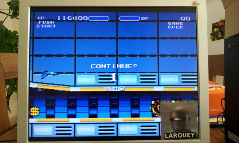 Larquey: Air Buster [Easy] (Sega Genesis / MegaDrive Emulated) 116,400 points on 2017-04-23 05:36:04