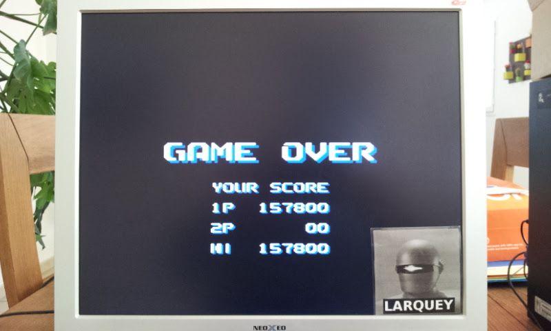 Larquey: Air Buster [Hard] (Sega Genesis / MegaDrive Emulated) 157,800 points on 2017-04-23 05:38:43