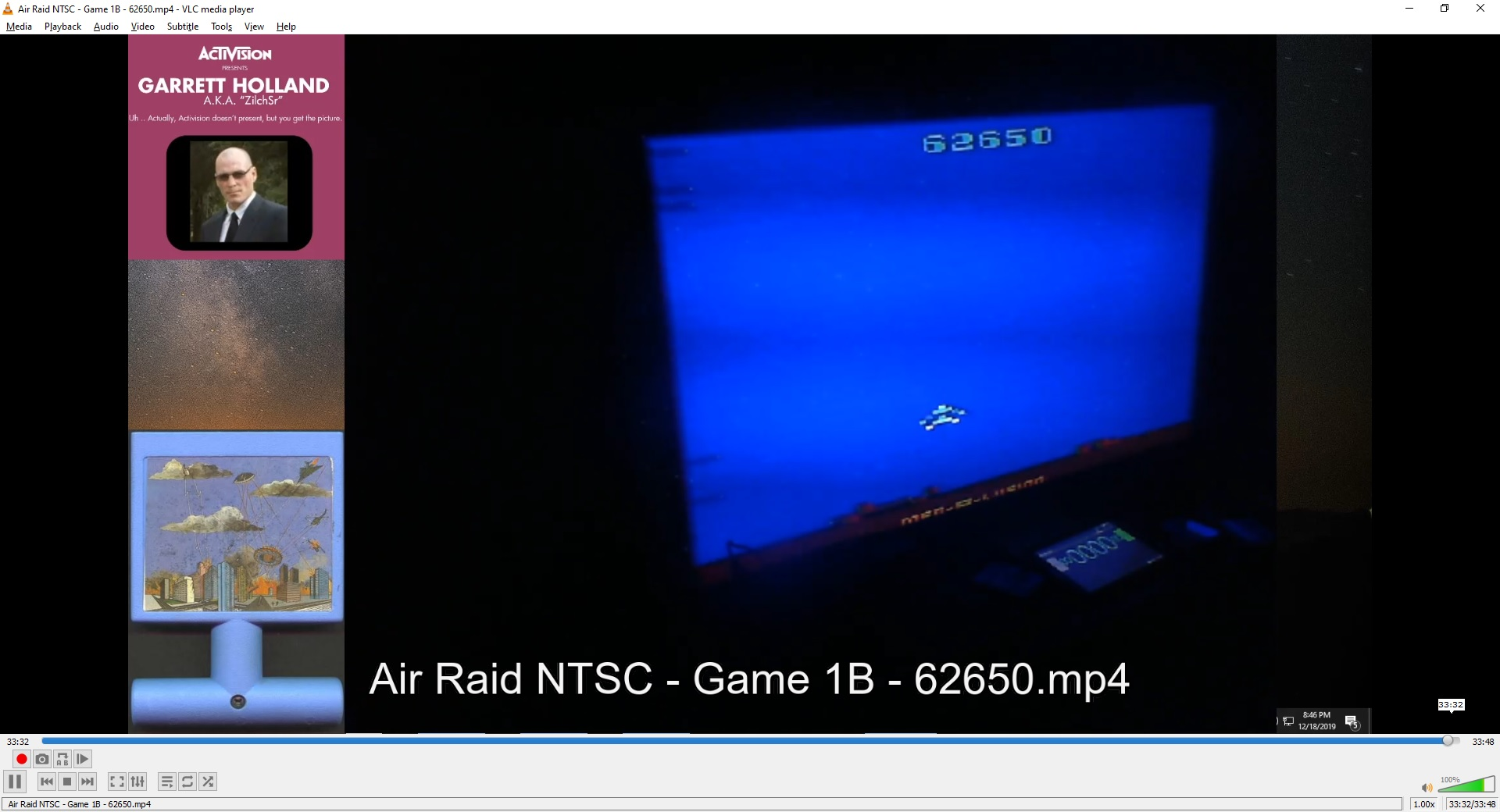 ZilchSr: Air Raid (Atari 2600 Novice/B) 62,650 points on 2020-05-07 01:22:21