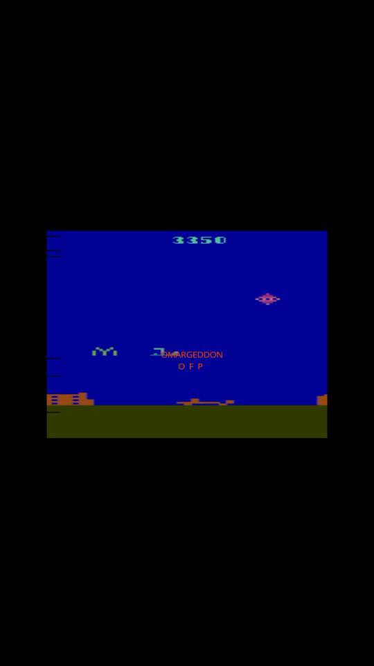 omargeddon: Air Raid (Atari 2600 Emulated Novice/B Mode) 3,350 points on 2016-12-27 01:33:49