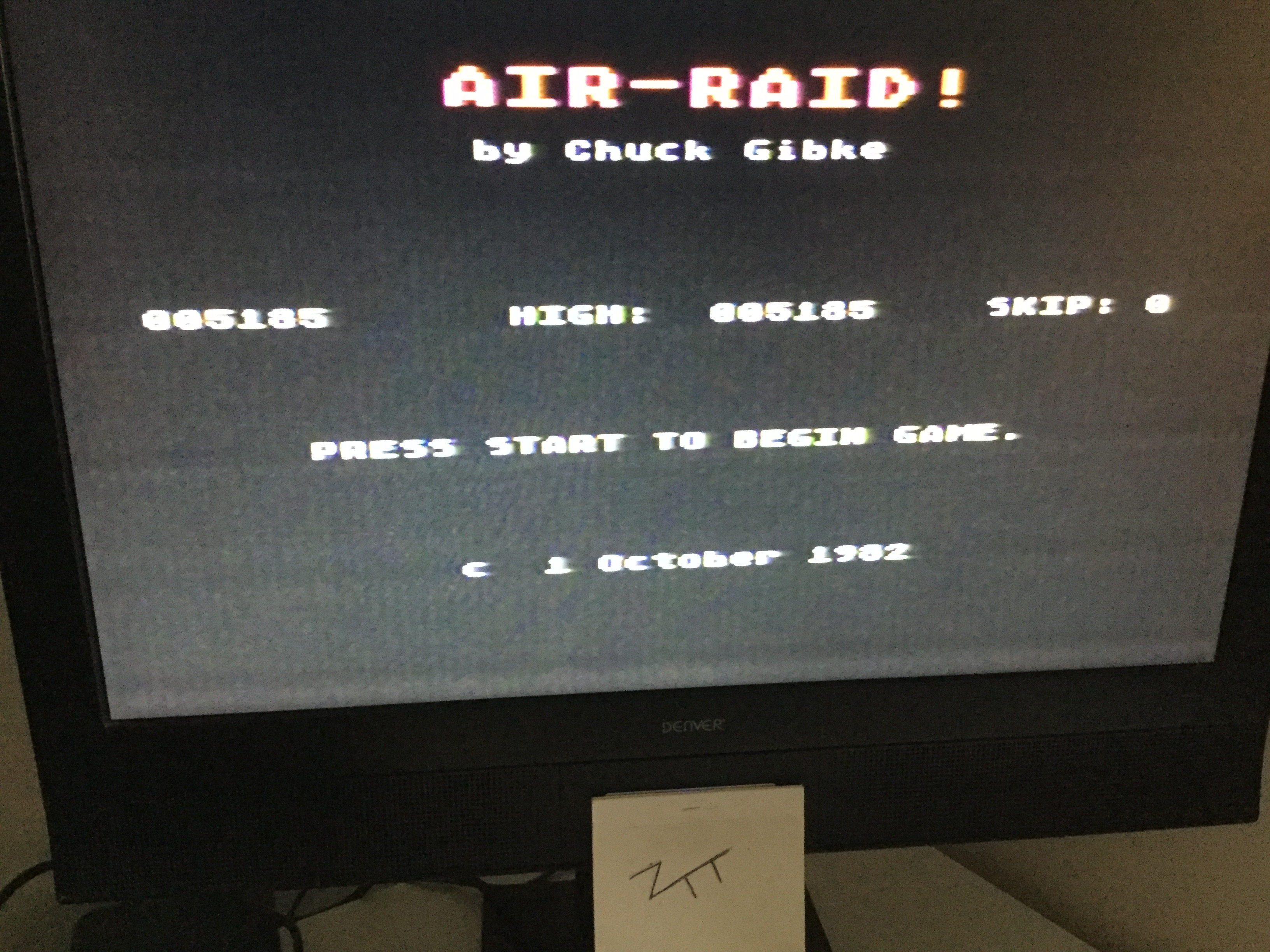 Frankie: Air Raid! (Atari 400/800/XL/XE) 5,185 points on 2018-08-29 12:24:53