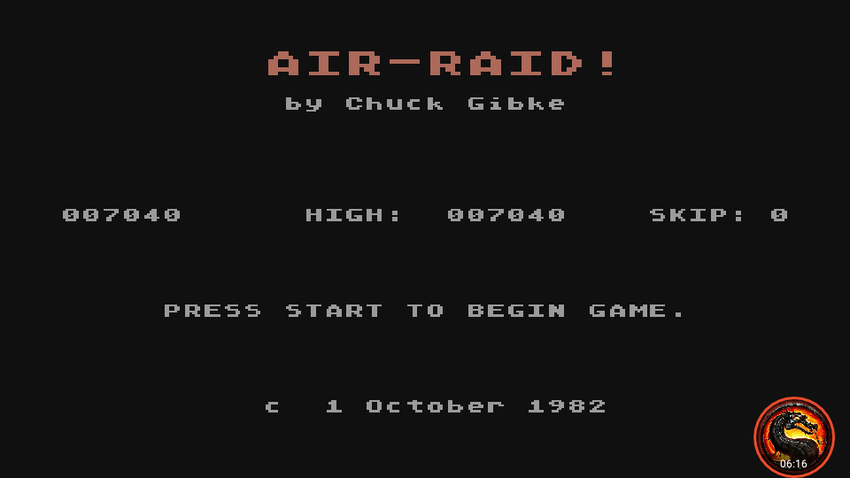omargeddon: Air Raid! (Atari 400/800/XL/XE Emulated) 7,040 points on 2020-01-06 12:31:14