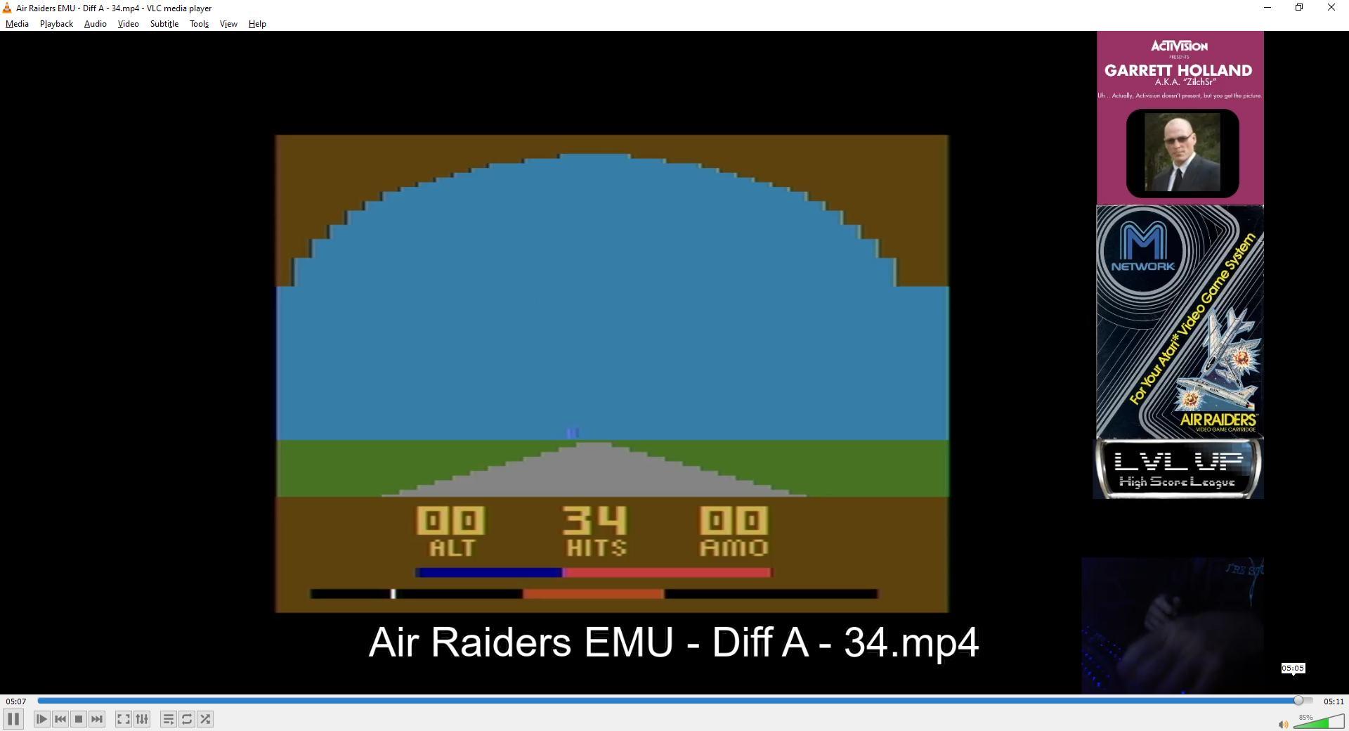 ZilchSr: Air Raiders (Atari 2600 Emulated Expert/A Mode) 34 points on 2021-02-13 16:16:18