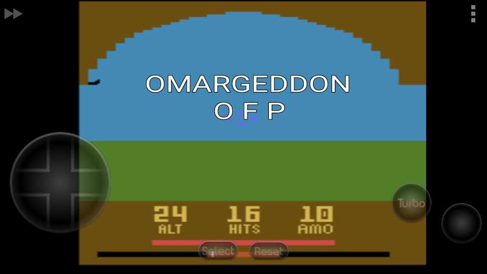 omargeddon: Air Raiders (Atari 2600 Emulated Novice/B Mode) 16 points on 2016-11-18 23:56:51