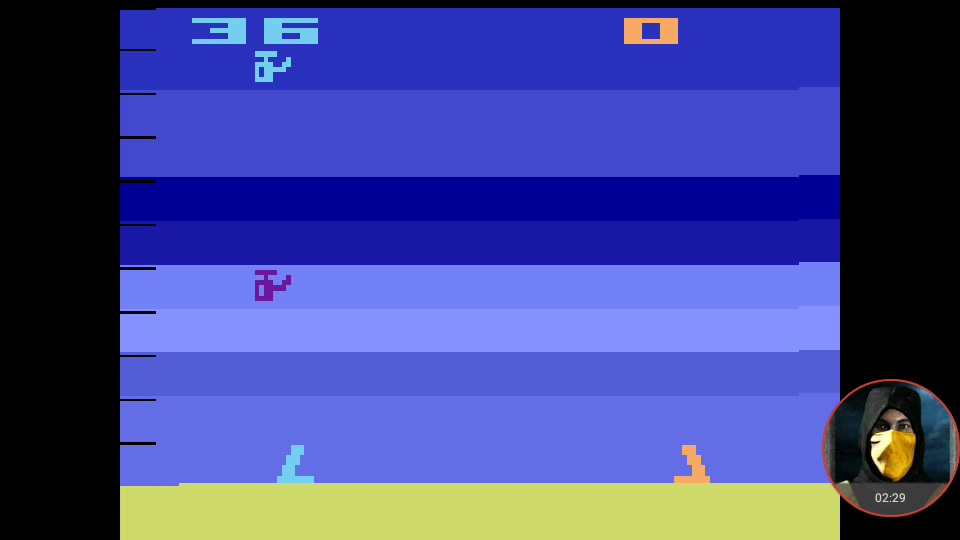 omargeddon: Air-Sea Battle (Atari 2600 Emulated Expert/A Mode) 36 points on 2018-02-23 00:41:13