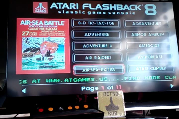 RetroRob: Air-Sea Battle (Atari 2600 Emulated Novice/B Mode) 40 points on 2020-04-04 14:01:32