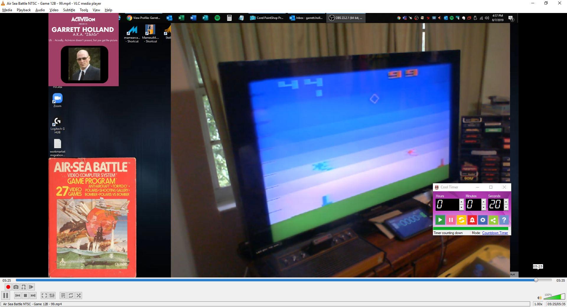 ZilchSr: Air-Sea Battle: Game 12 (Atari 2600 Novice/B) 99 points on 2019-10-10 19:53:54