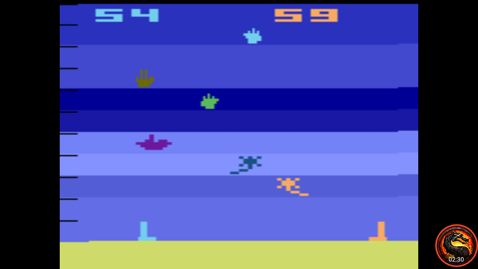 omargeddon: Air-Sea Battle: Game 12 (Atari 2600 Emulated Expert/A Mode) 59 points on 2020-06-21 11:15:15