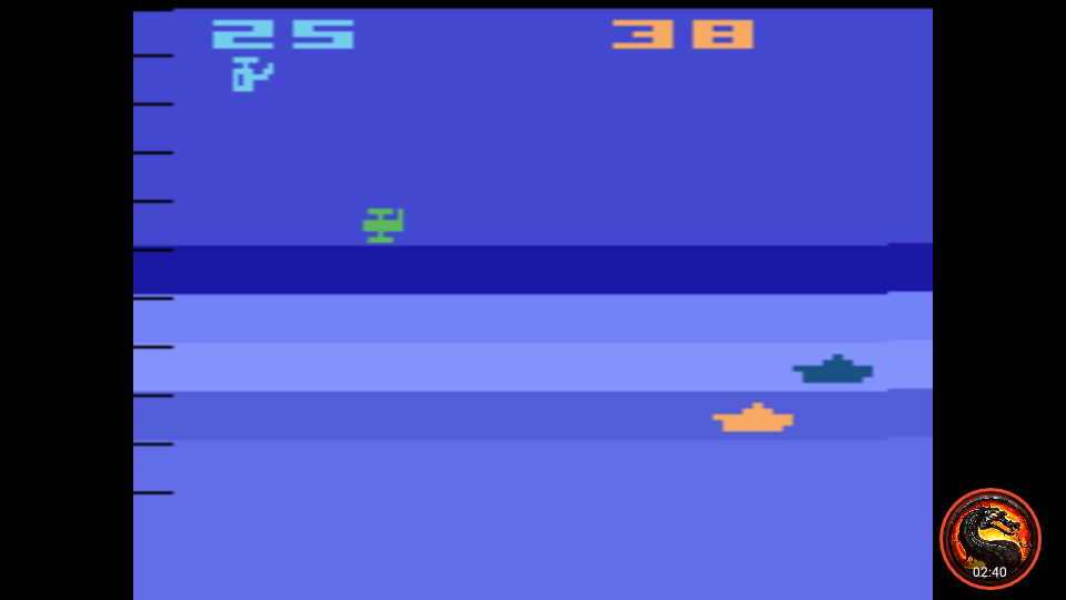 omargeddon: Air-Sea Battle: Game 18 (Atari 2600 Emulated Novice/B Mode) 38 points on 2020-01-11 01:03:06