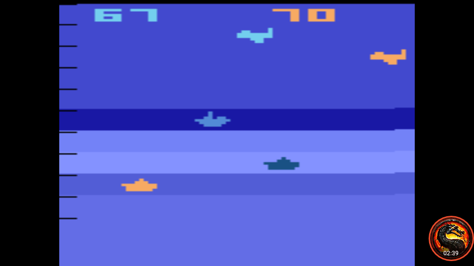 omargeddon: Air-Sea Battle: Game 21 (Atari 2600 Emulated Novice/B Mode) 70 points on 2020-01-11 01:09:49